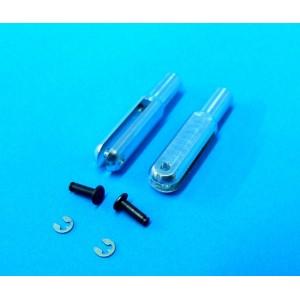 Chape aluminium MP JET M3 2 pcs