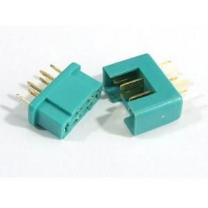 Connecteurs MPX OR original M + F 6 pôles  1paire