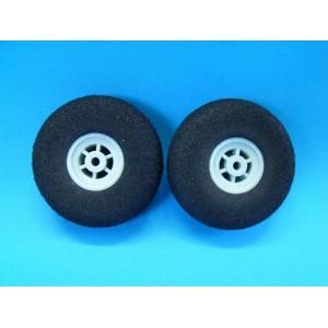 Paire de roue en mousse légère  40 mm