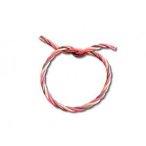 Câble torsadé gainé silicone  0,50mm² / mètre