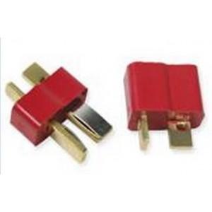 Connecteur T plug mâle+femelle plaqué OR
