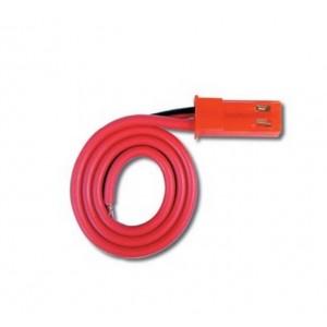 Cordon accu mâle JST/Bec 17cm - câble 0.30mm²