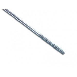 Tige acier 2 mm / 1 bout fileté M2 / 1pc