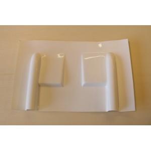 Carénage en fibre pour servo débordant  / Blanc