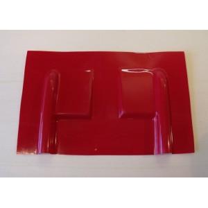 Carénage en fibre pour servo débordant  / Rouge
